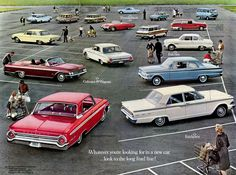 Ford to Drop Most of its Car Line: In 1962 Ford Sold Four Models and Twelve Body Styles Vintage Racing, Vintage Cars, Antique Cars, Ford Range, Car Brochure, Ford Lincoln Mercury, Old Fords, Ford Fairlane, Linnet