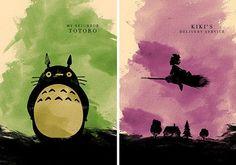 Hayao Miyazaki Minimalist Movie Poster Set 8 Poster by moonposter