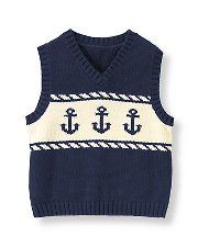 Janie and Jack- High Seas Style Anchor Sweater Vest