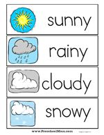 weather word wall printables