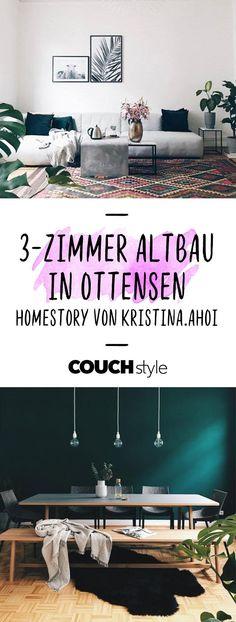 3-Zimmer Altbau in Hamburg Ottensen: Zu Besuch bei Kristina.Ahoi! Ihr liebevoll eingerichtetes Zuhause vereint Vintage-Stücke und skandinavisches Design! #living #wohnen #wohnideen #einrichten #interior #COUCHstyle #homestory #hamburg #altbau
