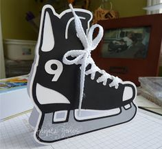 An Ink and a Smile: Hockey Skate Card