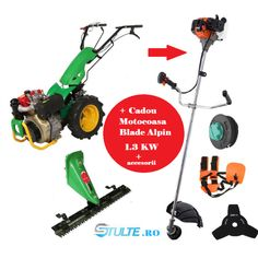 Minitractor Diesel pe 2 roti Bronto POWER 10 BTD + anexă cositoare cu lamă - stulte.ro Outdoor Power Equipment, Diesel, Honda, Diesel Fuel, Garden Tools
