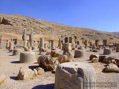 Columns at Persepolis, Iran