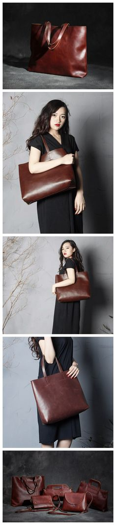 Handmade Genuine Leather Tote Bag, Shopping Bag For Women