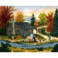 Cherokee Thanksgiving original painting by J.L. Munro