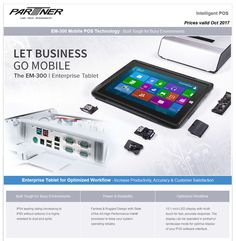 Partner EM-300 Mobile POS Technology - Built Tough for Busy Environments • 2k11 Online Computer Store in SA