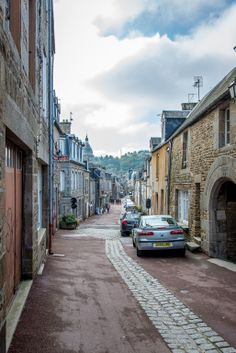 One of the many beautiful streets to be found in Brittany, France