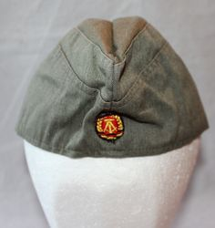 Vintage East Germany Garrison Hat, Military Collectible, 1970's by ilovevintagestuff on Etsy