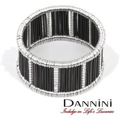 White and Black Gold stretchable Bracelet with rows of diamonds from the Only One collection. Because there is ONLY ONE. #IndulgeInLifesLuxuries. http://dannini.com/collections/only-one-collection/white-and-black-gold-stretchable-bracelet-with-rows-of-diamonds.html