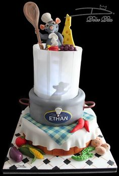 Rmi Ratatouille Cake Love it Party Planning Pinterest Cake