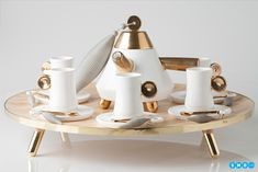 This Turkish tea set is a sophisticated step up from your average mug! Sofia pays homage to the traditional Turkish tea set with a