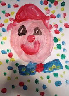 clown verven kleuters Circus Clown, Clowns, Disney Princess, Disney Characters, School, Projects, Painting, Theater, Art