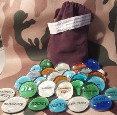 Military Stone Bag Words that inspire encourage by TarotFromHeaven, $15.00