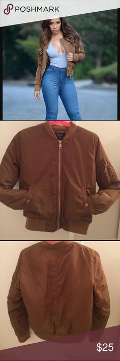 Brown bomber jacket Brand new never worn brown bomber jacket from fashion nova. Fashion Nova Jackets & Coats Puffers