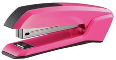 Bostitch Ascend Antimicrobial Stapler with Integrated Staple Remover and Staple Storage Pink Desk, Paris Bedroom, Pink Office, Wine Rack, Office Supplies, School Supplies, How To Remove, Storage, Pink