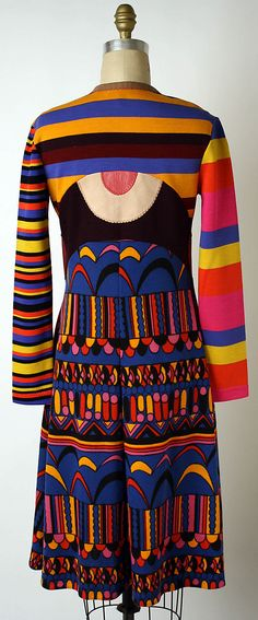 Stephen Burrows | Vintage Psychedelic Dress | American | The Metropolitan Museum of Art / op art fashion 1960s