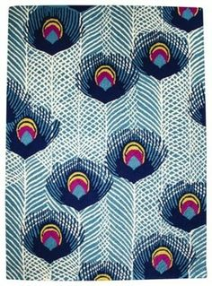 This design could be DIYable. Boho Boutique Peacock Area Rug contemporary rugs