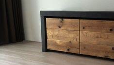 dressoir van steigerhout en beton ciré
