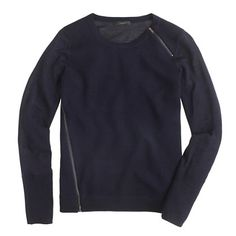 J Crew Merino wool asymmetrical zip sweater