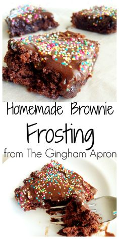 No one will know that you used a brownie mix when you top it with delectable (and easy!!) frosting.