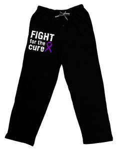 TooLoud Fight for the Cure - Purple Ribbon Crohn's Disease Adult Lounge Pants