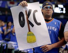 Morgan Honer of Oklahoma City cheers for the Thunder before Game 4 of the first round in the NBA playoffs between the Oklahoma City Thunder and the Dallas Mavericks at American Airlines Center in Dallas, Saturday, May 5, 2012.