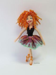 Pretty ballerina doll. Hand made. Needle Felt Doll