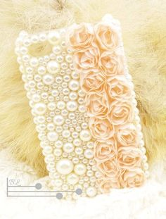 Lace Rose Pearl Cute iPhone 4S Cases For Girls