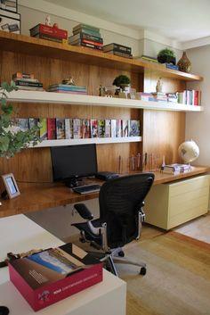 Escritorio em casa - projeto e foto Tatiana de Azevedo Arquitetura