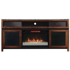 Classic Flame Gramercy Media Mantel in Chocolate