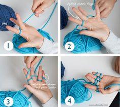 Les Deux Moulins: Tejer con los dedos {Finger Knit}