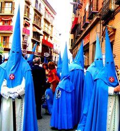 Blue - Semana Santa Easter procession in Seville, Spain