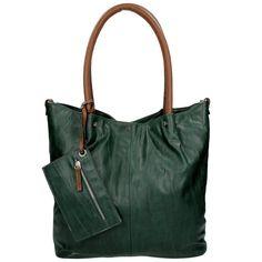 Twingbag Shopper Groot Bag in Bag Grun/Cognac 01
