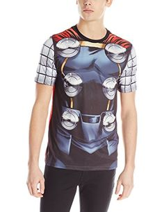 Marvel Thor Men's Storm Cape T-Shirt  White Sublimated  X-Large