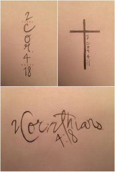 2 Corinthians 4:18 Cross Tattoo Design