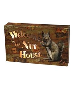 Whether you're looking to put a wilderness-inspired spin on existing décor or you're outfitting a new cabin, this playful sign adds a just-right touch of whimsy to your space while keeping with the woodsy theme. Lead Boxes, Wildlife Decor, Box Signs, Led, Cabin, Products, Cabins, Cottage
