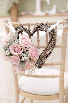 Romance in Blush - Pink and Blush Wedding Decor Perfect Wedding, Diy Wedding, Rustic Wedding, Dream Wedding, Wedding Day, Wedding Bride, Wedding Chair Decorations, Wedding Chairs, Pink Wedding Colors