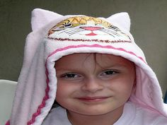 Kitty Cat Hooded Towel With Personalized Name on by stitchcottage, $28.00