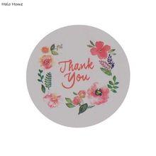 Etiquetas de alta Calidad Promociones gracias DIY Etiquetas De Papel Del Partido 100 Unids Guirnalda Regalo Sobres Caja Del Arte Seals Sticker 35mm(China (Mainland))