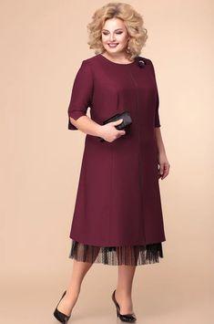 Unique Dresses, Simple Dresses, Plus Size Dresses, Casual Dresses, Curvy Women Outfits, Clothes For Women, Iranian Women Fashion, Over 50 Womens Fashion, Elegant Outfit