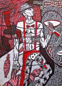 Tekanan Batin #28 / Suppression #28.Bolpoin On Paper, 30 cm X 22 cm, 2009