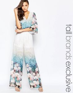 560973d1d36 True Decadence Tall Floral Border Print Jumpsuit at asos.com