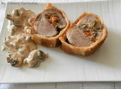 Découvrez la recette Filet mignon de porc à la moutarde farci aux champignons en…