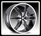 22 MILANNI 460 BELAIR 6 6X5.5 ESCALADE AVALANCHE CHROME WHEELS RIMS FREE LUGS! - 22quot, 6x5.5, AVALANCHE, BELAIR, CHROME, ESCALADE, FREE, LUGS, MILANNI, rims, wheels