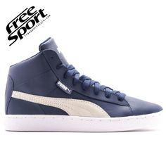 Puma 48 Mid L Blu in Pelle 356733-01 http://freesportstyle.com/puma/604-puma-48-mid-l-blu-in-pelle-356733-01.html