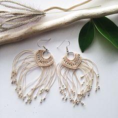 A personal favorite from my Etsy shop https://www.etsy.com/listing/511999886/macrame-earrings-beige-earrings