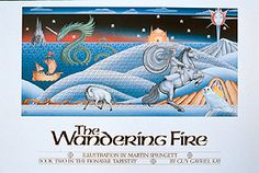 Poster of the full wrap image that was used on the cover of the first edition of THE WANDERING FIRE, by Guy Gavriel Kay. Book Club Books, Book Art, My Books, Summer Trees, Desert Island, High Fantasy, Lotr, The Darkest, Two By Two
