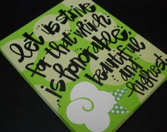 Kappa Delta painted canvas (motto)