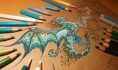 Dragon of a spring forest [ WIP ] by AlviaAlcedo.deviantart.com on @DeviantArt